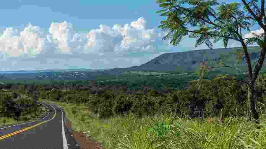 Vista da Serra de Caldas Novas, entre Rio Quente e Caldas Novas, em Goiás  - Pablo Regino/Mtur