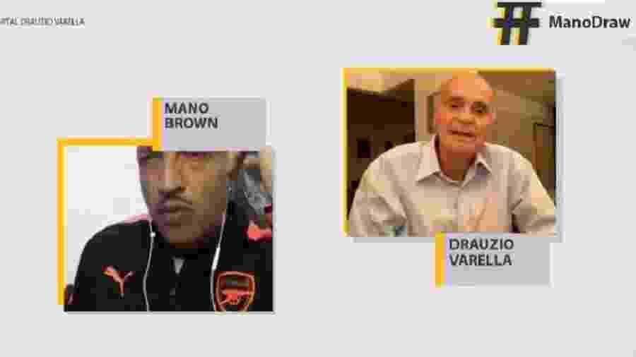 Dráuzio Varella entrevista Mano Brown - Reprodução