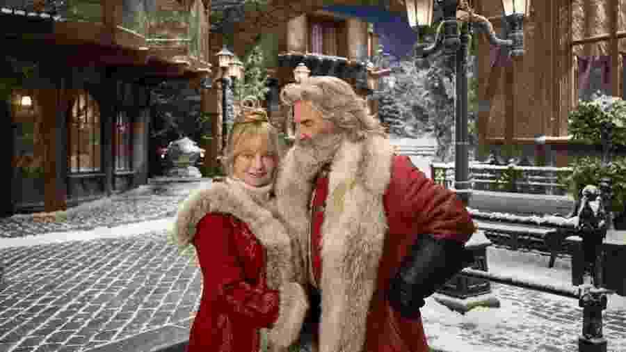 """Goldie Hawn e Kurt Russell são Mamãe e Papai Noel em """"Crônicas de Natal 2"""" - Reprodução"""