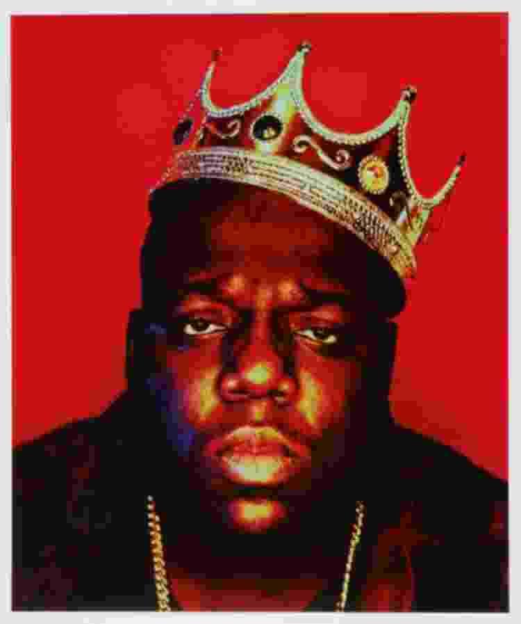 The Notorious B.I.G. em uma das fotos da sessão 'King of New York' - Reprodução - Reprodução