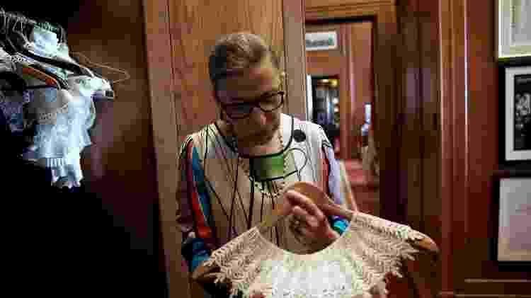 Ruth exibe colares - Jonathan Ernst/REUTERS - Jonathan Ernst/REUTERS