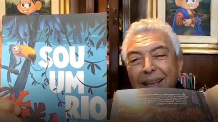 Mauricio de Sousa exibe novo livro durante live - Reprodução/Instagram