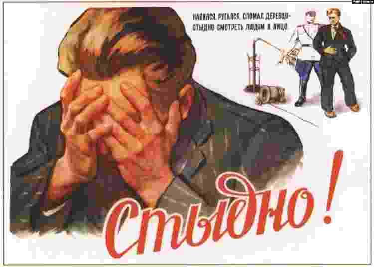 Cartazes soviéticos antiálcool 03 - Reprodução - Reprodução