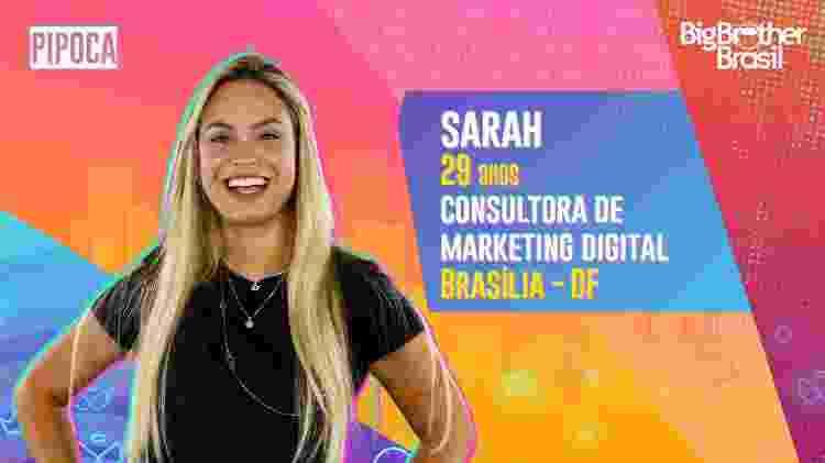Sarah no BBB 21 - Divulgação - Divulgação