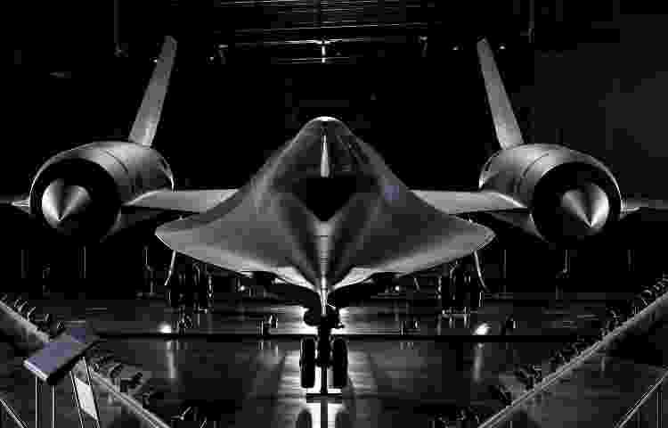 Avião militar SR-71 Blackbird, que voava a mais de 3.500 km/h, em exposição no Museu Nacional do Ar e Espaço - Dane Penland/Smithsonian Institution - Dane Penland/Smithsonian Institution