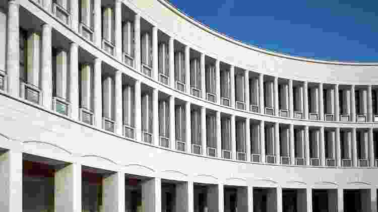 Rationalistic architecture from Eur Rome - roma - fascismo - Getty Images/iStockphoto - Getty Images/iStockphoto