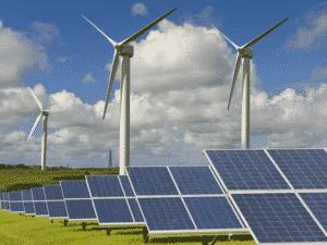 Turbinas eólicas e energia solar - Divulgação/ Governo Britânico - Divulgação/ Governo Britânico