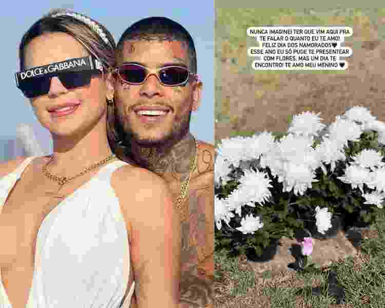 Deolane Bezerra visita MC Kevin no cemitério - Reprodução Instagram - Reprodução Instagram