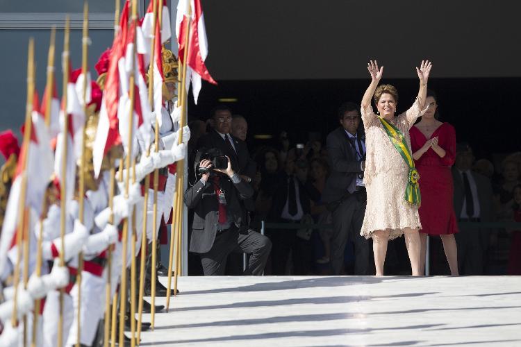 Dilma tomou posse em 2015 com um vestido de Giuliana Pereira - Fabio Braga / Fuhlhabers - Fabio Braga / Fuulhabres