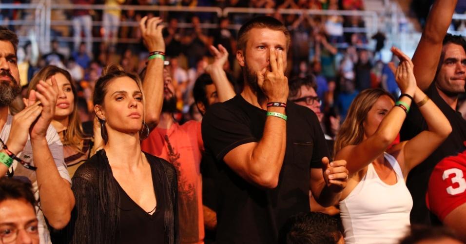 1.ago.2015 - Fernanda Lima e Rodrigo Hilbert curtiram juntos o UFC 190 realizado no Rio de Janeiro