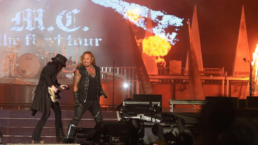 Mötley Crüe se apresenta no Palco Mundo do Rock in Rio, em 2015 - Marco Antonio Teixeira/UOL