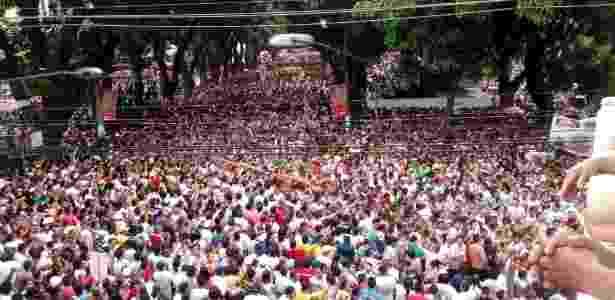 Fiéis disputam a corda do Círio de Nazaré, em Belém - Ewelin Gamelas/Agência Eko