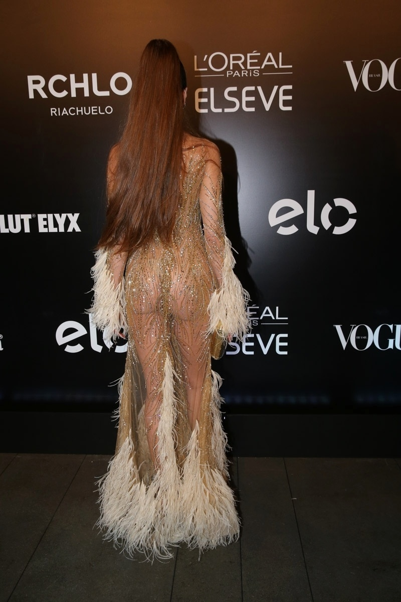 28.jan.2016 - Luciana Gimenez em baile da Vogue, em São Paulo