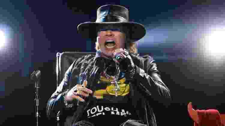 AC/DC se apresenta pela primeira vez com Axl Rose em show na cidade de Lisboa, Portugal - AFP - AFP