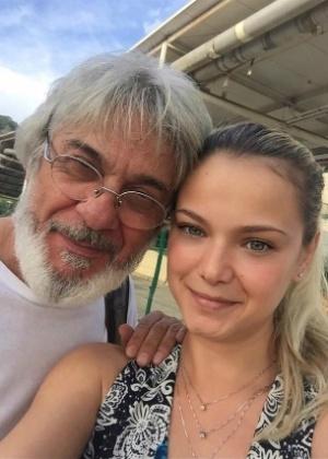 """Zécarlos Machado com Milena Toscano, colega de elenco de """"O Rico e Lázaro"""" - Reprodução/Instagram/nossoportal"""