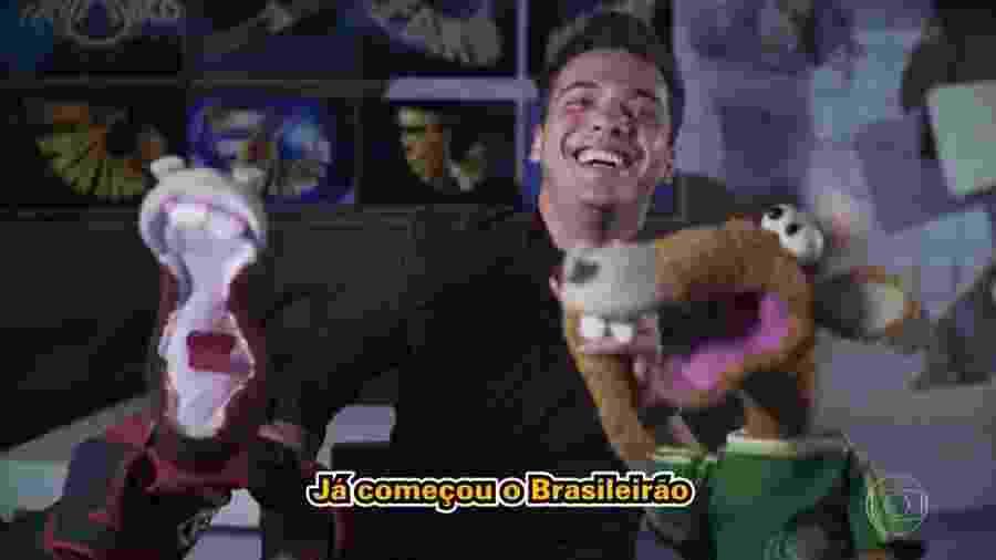 """Wesley Safadão canta paródia de """"Você Partiu meu Coração"""" com os cavalinhos do """"Fantástico"""" - Reprodução/TV Globo"""