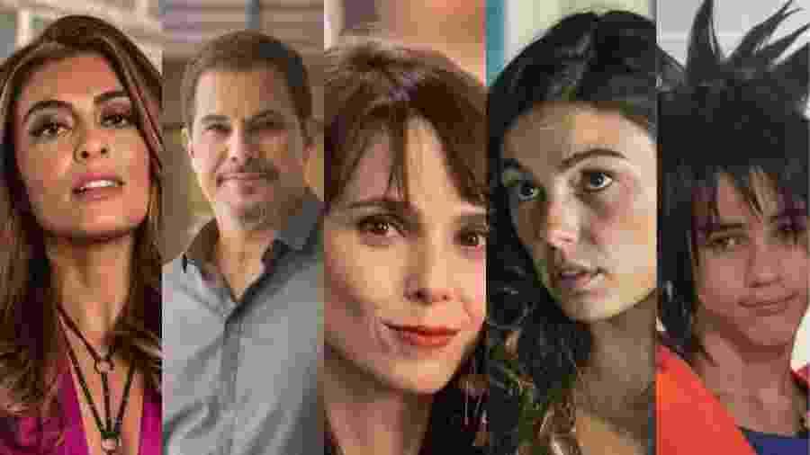 """Bibi, Dantas, Irene, Ritinha e Yuri são personagens que dão raiva em """"A Força do Querer"""" por vários motivos. Saiba quais são: - Montagem UOL"""