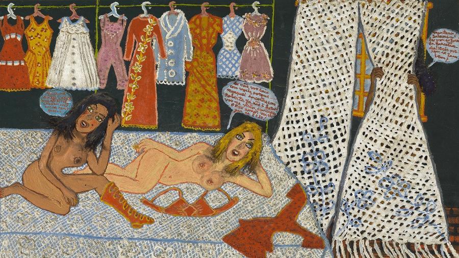 """A obra """"Três Mulheres"""", de 1972, da pintora brasileira Maria Auxiliadora - Acervo Masp"""
