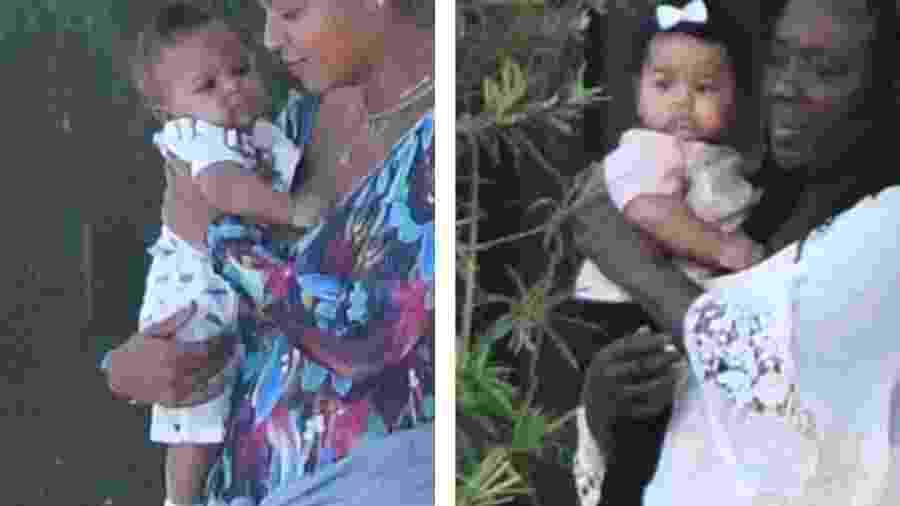 Beyoncé é vista com os gêmeos pela primeira vez; à esquerda, ela carrega o pequeno Sir e, à direita, a mãe da cantora leva a herdeira Rumi - Reprodução/Daily Mail