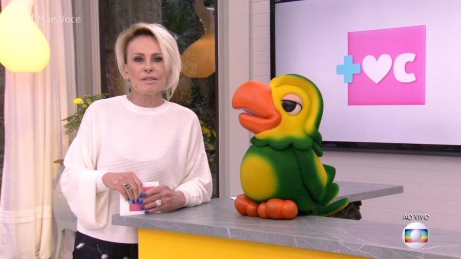 Ana Maria Braga com Louro José - Reprodução/Globo