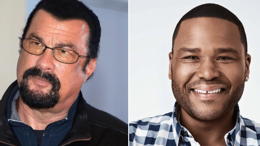 Steven Seagal e Anthony Anderson - GettyImage/Montagem