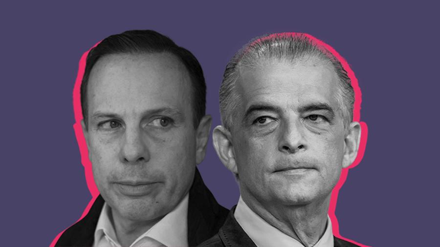 Os candidatos João Dória (à esq.) e Marcio França (à dir.); os dois disputam a vaga de governador no segundo turno em São Paulo - Arte/UOL