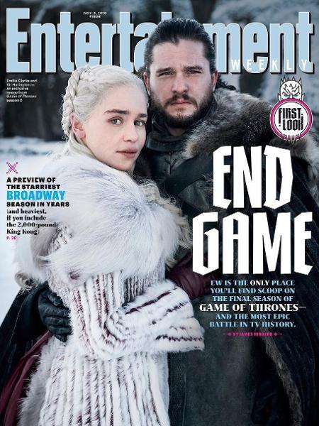 """Daenerys (Emilia Clarke) e Jon Snow (Kit Harington) estão na primeira foto da última temporada de """"Game of Thrones"""" - Reprodução/Entertainment Weekly"""