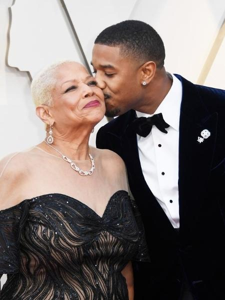 Michael B. Jordan levou a mãe para o Oscar 2019 - Reprodução/Twitter