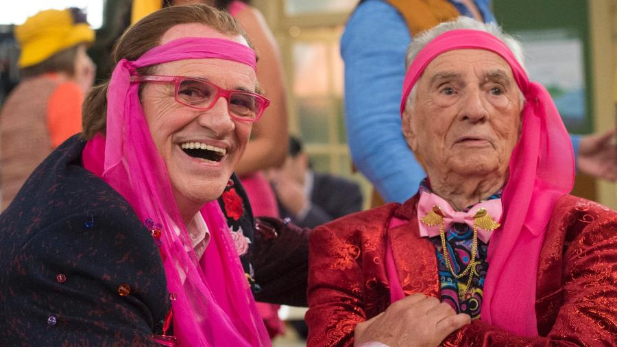 """Orlando Drummond e Marcos Caruso interpretam juntos Seu Peru na """"Escolinha do Professor Raimundo"""" - Estevam Avellar/TV Globo"""