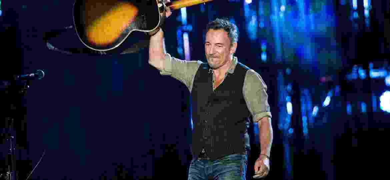 Bruce Springsteen em um show em 2014 em Washington, nos Estados Unidos - Brendan Smialowski/AFP