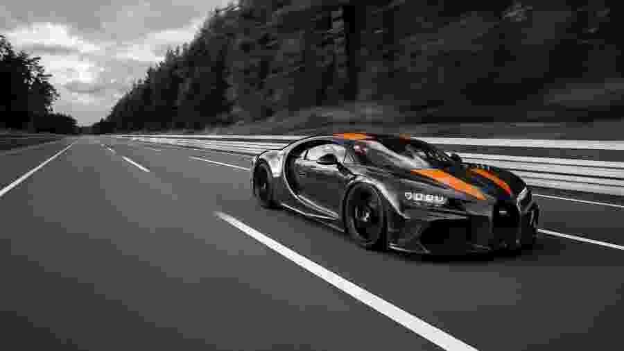 Bugatti Chiron bate recorde de velocidade para veículo homologado para as ruas - Divulgação