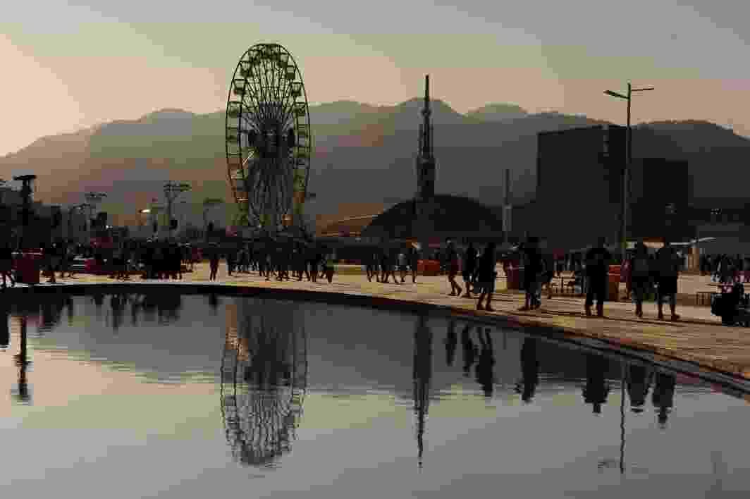 Roda-gigante é uma das grandes atrações da cidade do Rock - Bruna Prado/ UOL