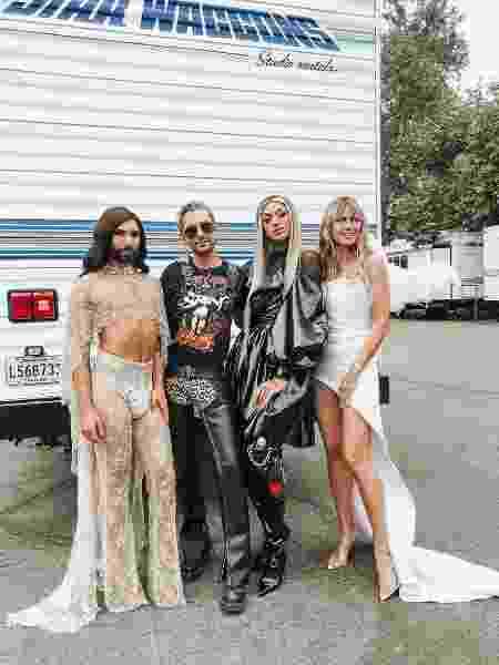Conchita Wurst, Bill Kaulitz, Pabllo Vittar e Heidi Klum - Reprodução/Instagram