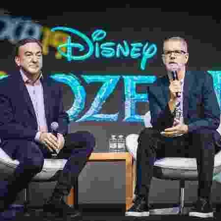 Produtor Peter Del Vecho e o diretor Chris Buck participaram de painel de Frozen na CCXP - Vans Bumbeers/Divulgação