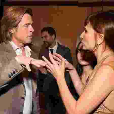 Brad Pitt e Petra Costa se encontram em evento do Oscar - REPRODUÇÃO/INSTAGRAM