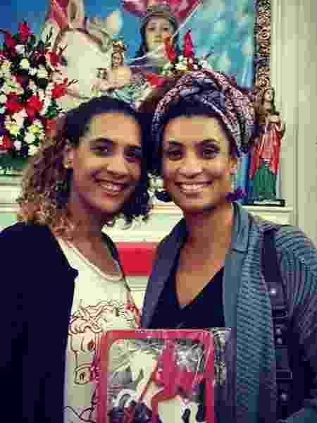 Anielle e Marielle, em foto publicada no Instagram pela irmã da vereadora  - Reprodução/Instagram