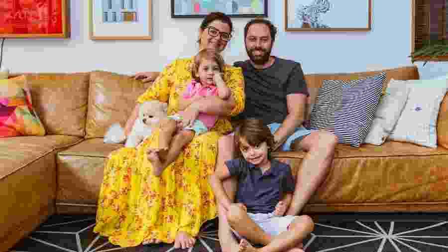 O arquiteto Pedro Kastrup Buzanovsky e sua família em seu refúgio na quarentena - Marina Oliveira