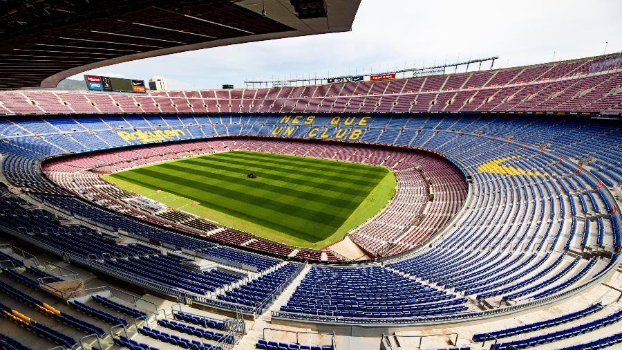 Estádio Camp Nou, do Barcelona, vazio durante a pandemia de coronavírus - German Parga/FCBarcelona