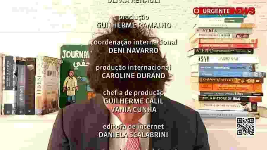 """Andréia Sadi zoa """"cabelo todo bagunçado"""" de Guga Chacra ao vivo - reprodução/GloboNews"""