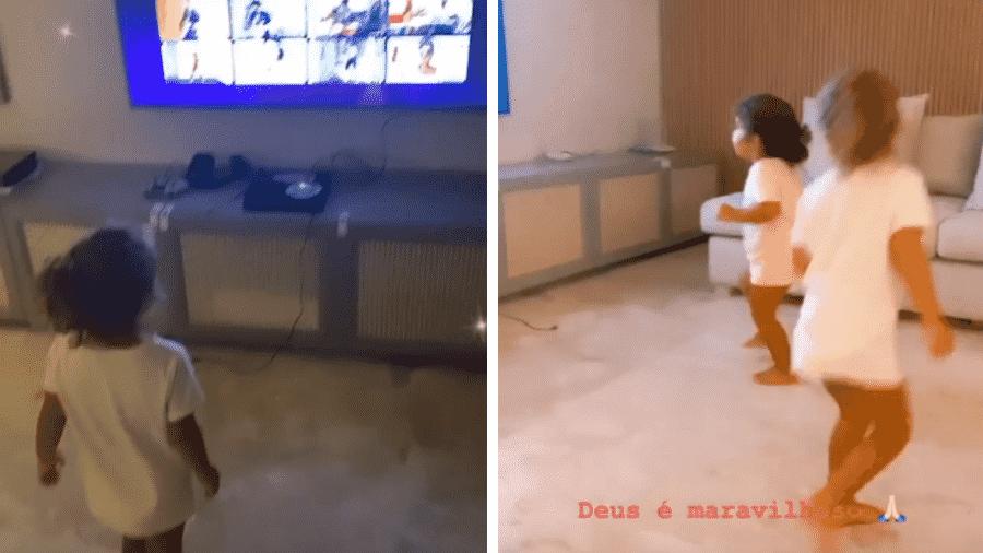 Ivete também gravou Marina paralisada ao assistir à mãe na televisão - Reprodução/Instagram/@ivetesangalo
