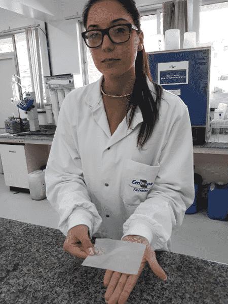 Francine Ceccon Claro: pesquisa para obter curativo com nanocelulose durou dois anos - Kátia Pichelli/Embrapa - Kátia Pichelli/Embrapa