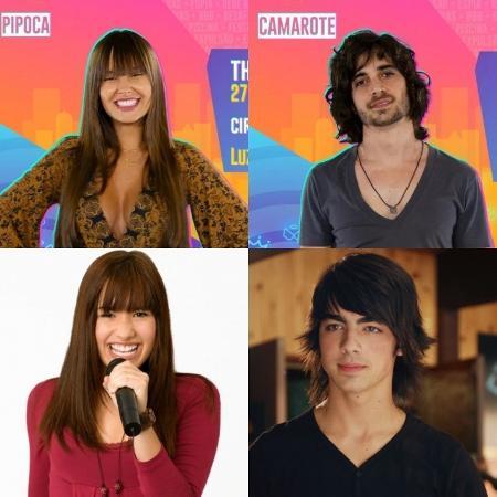 Fiuk, Thaís, Demi Lovato e Joe Jonas - Reprodução/Instagram