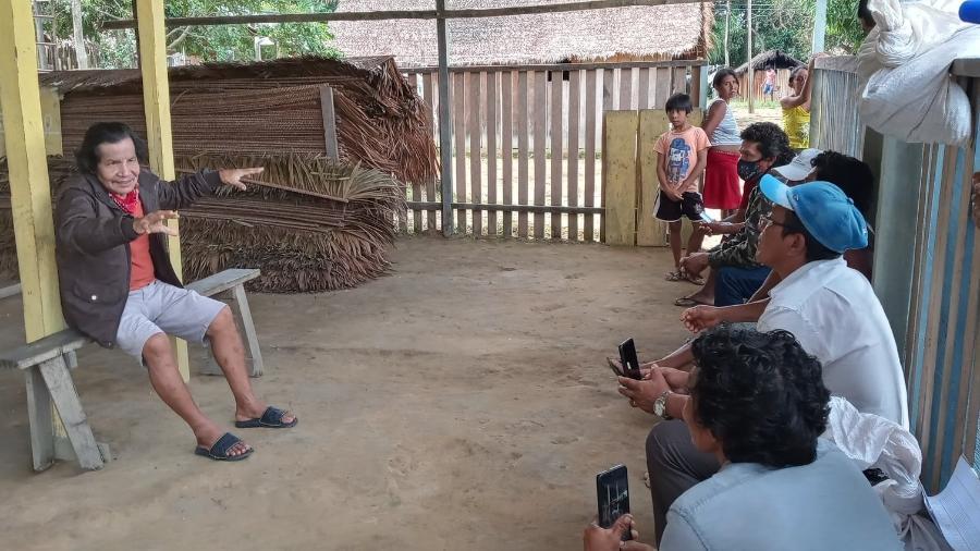 Obadias e integrantes do Nusoken, consórcio Sateré-Mawé - Divulgação