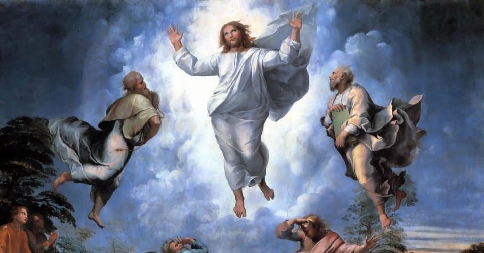 A obra Transfiguração, do pintor Rafael Sanzio, mostra uma imagem de Jesus com traços femininos