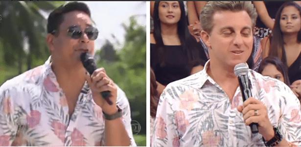 Huck e Xandy, do Harmonia, usam camisas parecidas e viram piada na web - Reprodução/TV Globo
