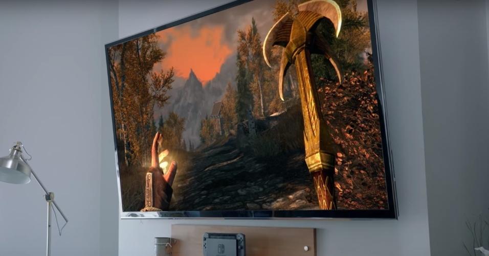 """O premiado RPG """"The Elder Scrolls V: Skyrim"""" vai rodar no Switch"""