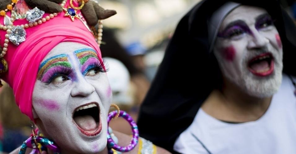 11.fev.2017 - Banda de Ipanema faz seu primeiro desfile de 2017 pela orla de Ipanema, na zona sul do Rio