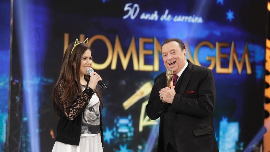 Revelada pelo apresentador, Maisa Silva comanda homenagem aos 50 anos de carreira de Raul Gil - Divulgação