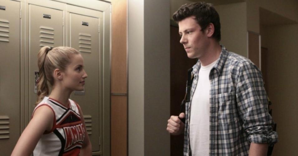 """Cory Monteith e Dianna Agron em cena de """"Glee"""" (2009)"""