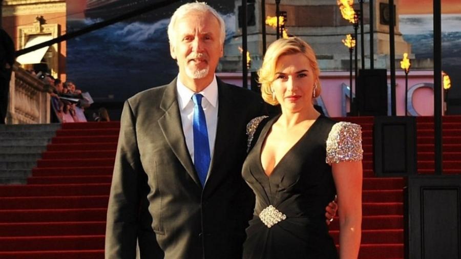 O diretor James Cameron e a atriz Kate Winslet, que voltarão a trabalhar juntos - Getty Images